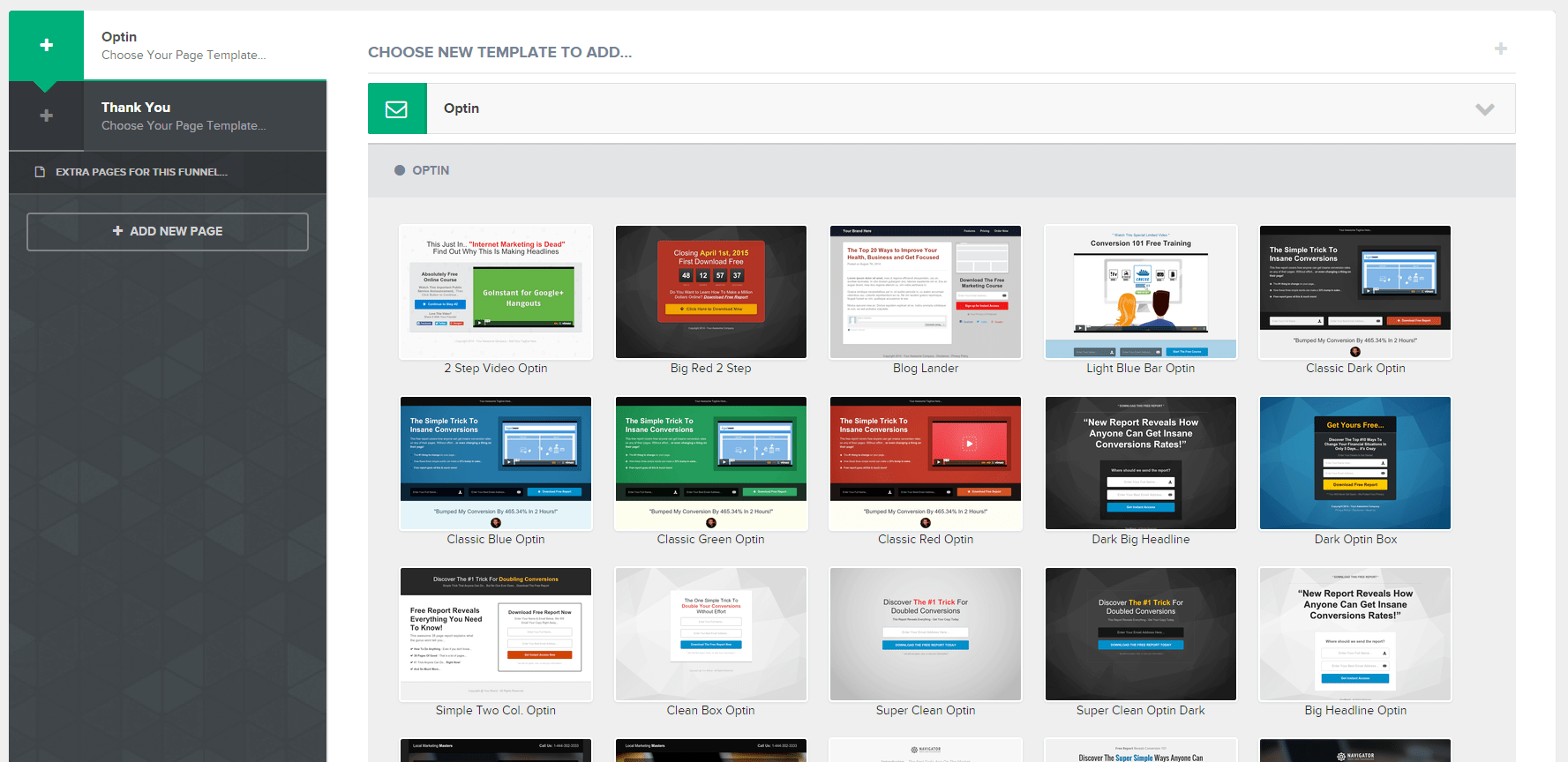 ClickFunnels email optins