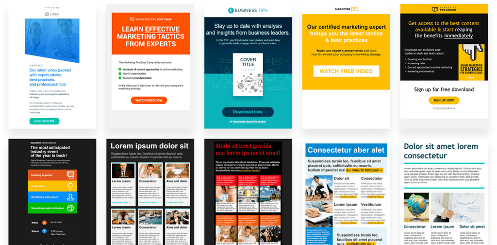 GetResponse online marketing template